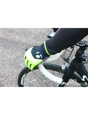 Bontrager autumn wear: The Race Windshell glove is fine for chilly rides, but is not waterproof