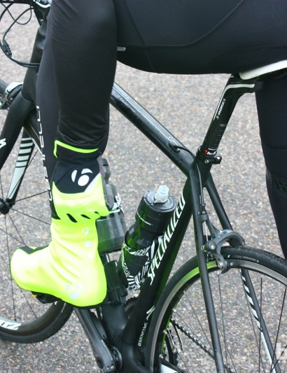 Bontrager fall wear: The HiVis accessories are certainly visible
