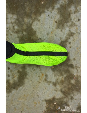 Bontrager autumn wear: The RXL Stormshell Shoe Cover is warm, even when eventually soaked