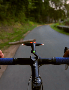 Onboard sensors can also alert the rider to the presence of road hazzards