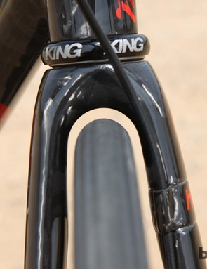 Thankfully, Enve Composites' Road Disc fork already has plenty of room for our desired tires