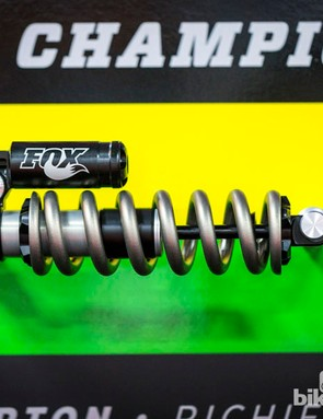 This Fox coil sprung shock was actually used on Greg Minnaar's race winning bike at the world championship downhill race
