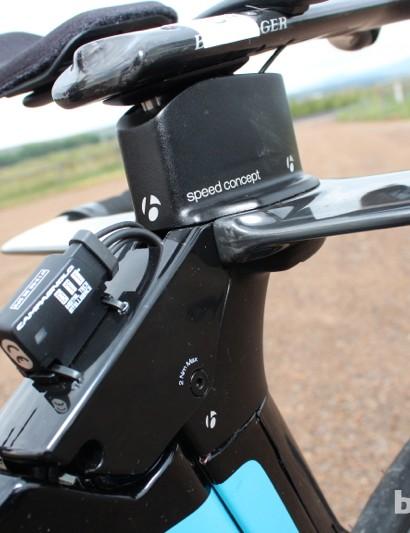 Trek Speed Concept 9 Series: Stack and reach are adjustable via various stems and riser blocks