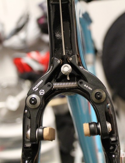 Trek Speed Concept 9 Series: Set your brakes right the first time, as there is no on-the-fly adjustment