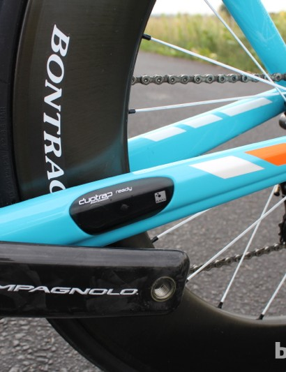 Trek Speed Concept 9 Series: We are fans of ANT+ integration, such as this speed/cadence sensor port