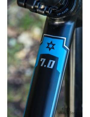 The Malvern Star Sprint 7.0 frame features smoothed welds and slender tubes