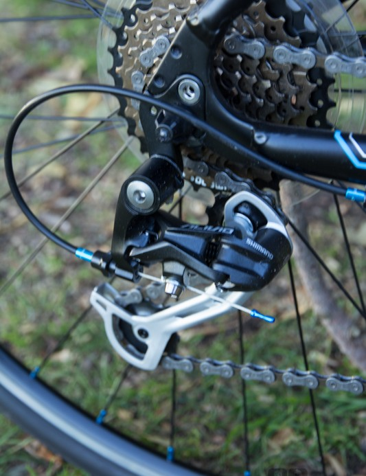The Malvern Star Sprint 7.0 features an Alivio 9-speed rear derailleur - no issues here