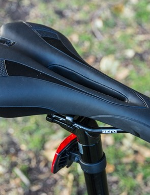 Malvern Star Sprint 7.0 - the saddle features a small pressure-relieving cut-out