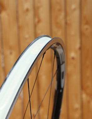 External rim width is a substantial 25mm across but it's the nearly 20mm internal width - 5mm wider than a Mavic Open Pro - that lends the HED Ardennes Plus SL wheels their fantastic performance characteristics