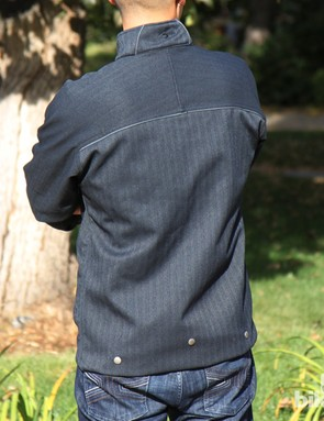 From the outside, there's little to let on that this jacket is aimed specifically at cyclists