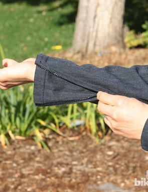 Zippered cuffs on the Showers Pass Amsterdam jacket easily fit over or under gloves