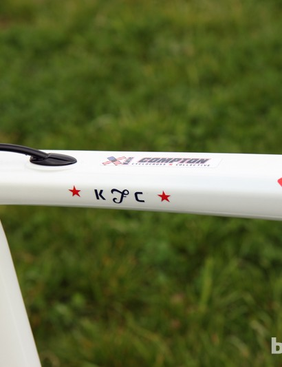 Just in case you're wondering, Katie Compton's (Trek Cyclocross Collective) middle name doesn't start with an 'F'