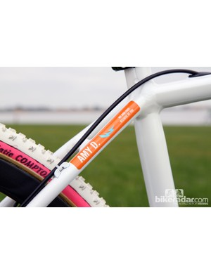 Fellow American cyclocross racer Amy Dombroski (Telenet-Fidea) was recently tragically killed during a training ride in Belgium. Many racers today at the Colorado Cross Classic were sporting memorial decals
