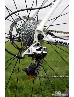 Derailleur cables are capped with heat shrink tubing instead of conventional crimps