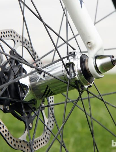 The new Bontrager RXXXL Disc carbon tubulars are built around DT Swiss hub internals
