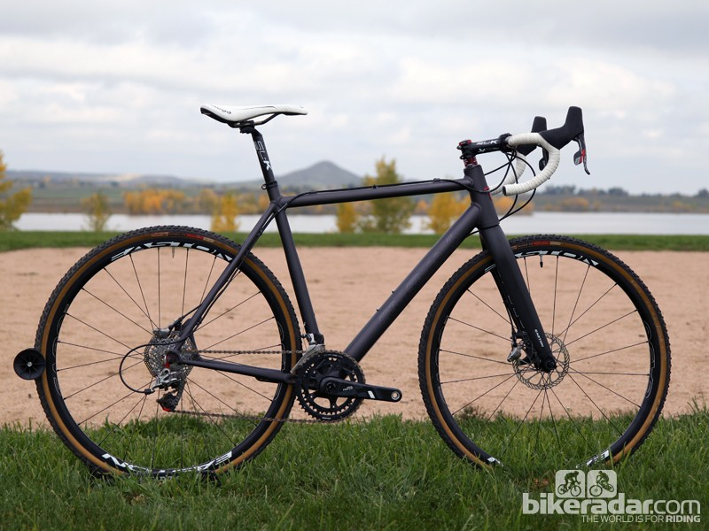 Van Dessel's new Aloominator is designed as a full-on cyclocross racing machine, featuring a lightweight aluminum tubeset welded in the USA by Zen Bicycle Fabrication in Portland, Oregon