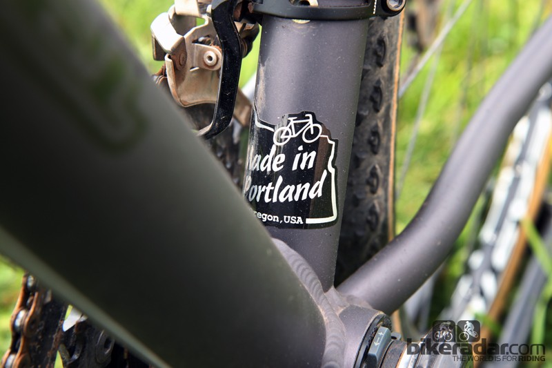 Don't rule out aluminum just yet. Zen Bicycle Fabrication is cranking out top-end frames for a number of manufacturers. Bottle mounts will be moved on production version, by the way