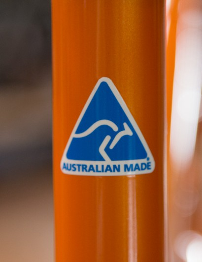 Sydney based Deubel are Australian made - a pretty rare thing these days. The frames are constructed with Easton tubing