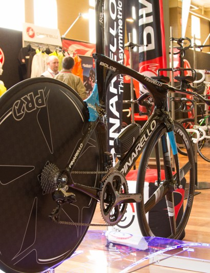 Pinarello Bolide - at AU$25,000 it takes the prize for 'most expensive' at Ausbike. But damn, it's cool!