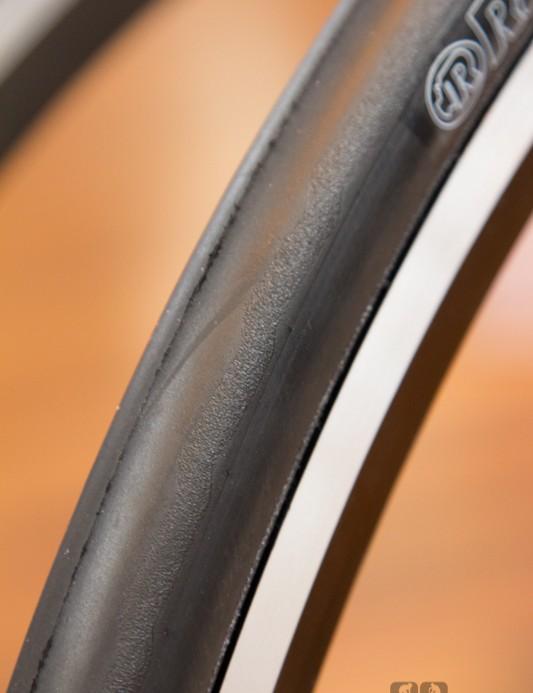 A closer look at the Rubena Phoenix's subtle tread pattern