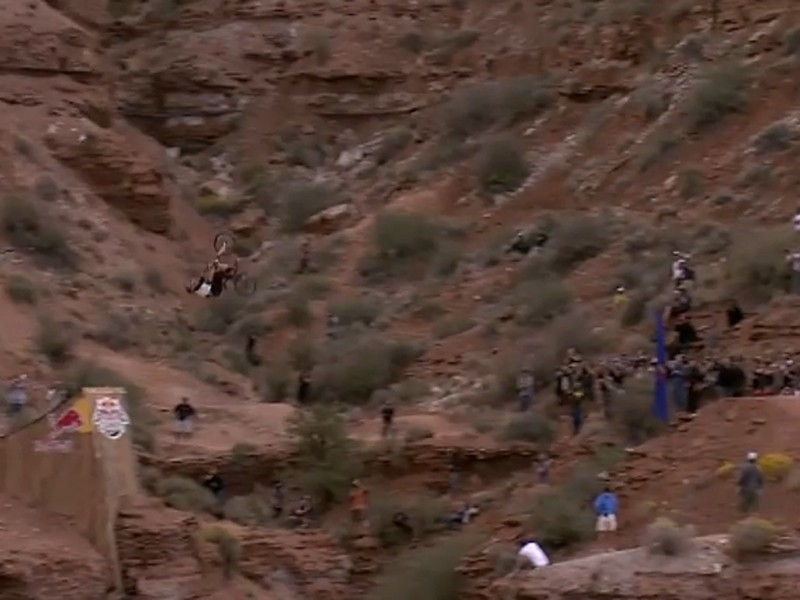 Kelly McGarry's 72ft back-flip at Red Bull Rampage