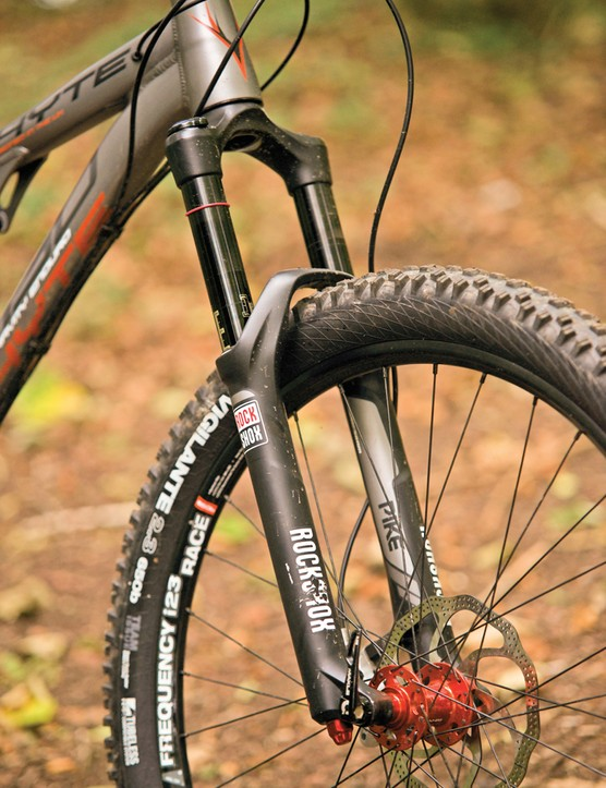 We were pleased to see a RockShox Pike on the front of the G150