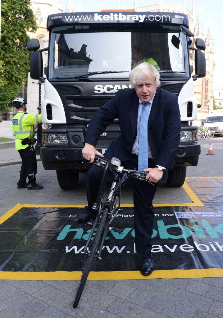 London Mayor Boris Johnson has announced a series of measures to reduce lorry danger