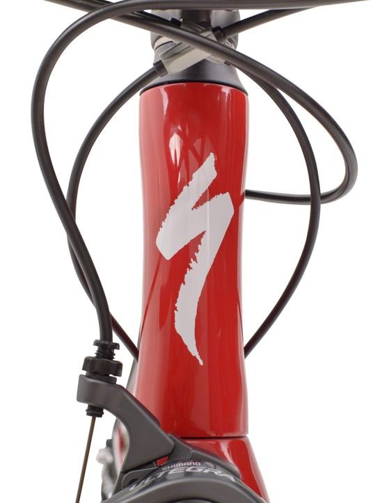 The Specialized Alias hourglass head tube
