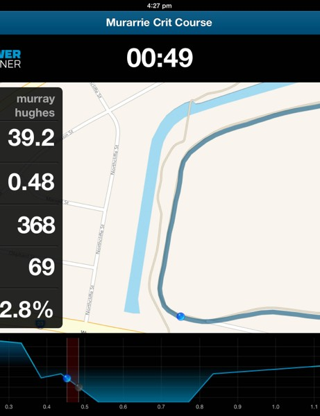 You can race the segment's best time on a KICKR, tracking your progress as you go