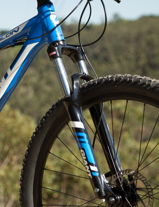 The Giant Talon 27.5 4 was let down by its under-performing fork. But given the price, there's still plenty of bike on offer
