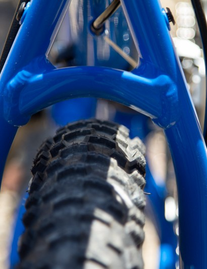 The Giant Talon 27.5's frame has enough tyre clearance to handle some wide rubber