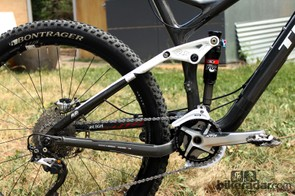 Trek's 27.5in-wheeled Remedy 9.8 offers 140mm of rear wheel travel compared to 160mm for the old 26in-wheeled version