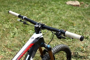Horgan-Kobelski says he never would have considered such a short cockpit back in his XC racing days but he now uses a 50mm stem for all of his bikes