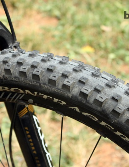 Horgan-Kobelski readily admits that his XC tire choices regularly straddled the border between speed and durability. When it comes to enduro racing. However, he now goes almost exclusively with tougher dual-ply casings
