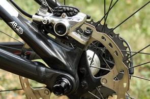 Horgan-Kobelski runs 180mm diameter rotors front and rear