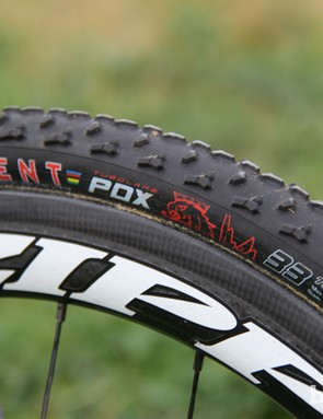 Trebon runs an assortment of Clement treads. The PDX is one of his favorites