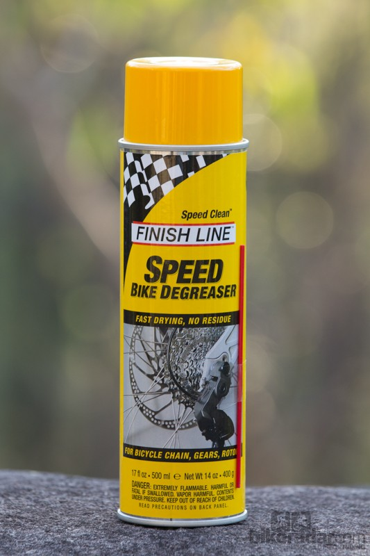 Finish Line Speed Clean Degreaser is sold in a 500ml (17oz) can