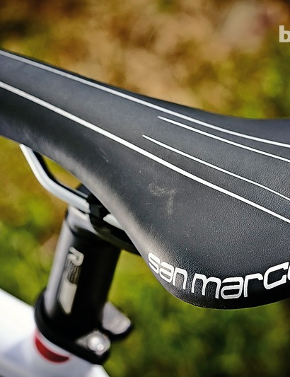 The San Marco Ponza saddle reflects the Revenio Carbon's emphasis on comfort
