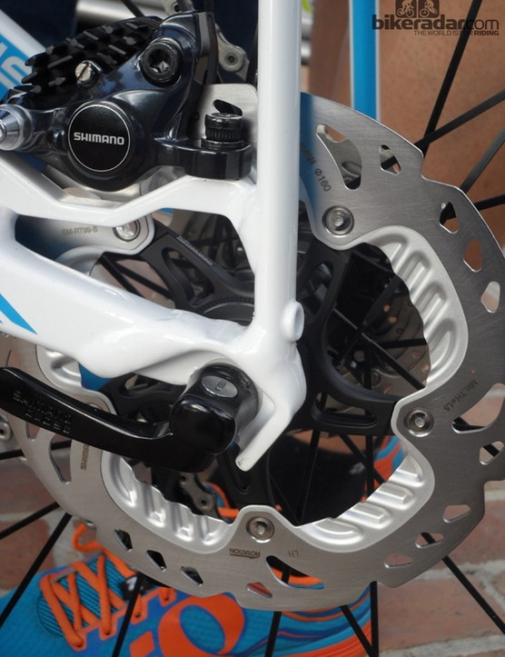 Our test bikes ran 160mm rotors but Shimano are confident that the full production 140mm will be enough