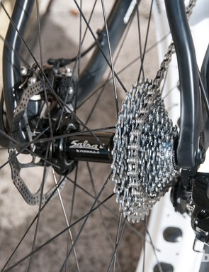 The 177mm rear hub allows for a sensible chainline