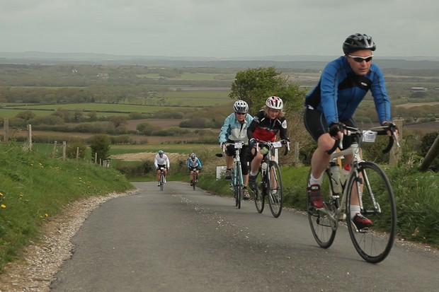 Riders Wiggle their way up the hills in the Jurassic Beast Sportive