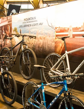 Cell Bikes were showing off a small part of their 2014 range - expect big changes from this Australian consumer-direct brand for 2014
