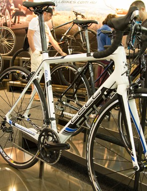 The Cell Akuna 1.1 - named after Sydneys popular Akuna Bay loop. This is Cell's entry-level carbon endurance bike and for AU$1399 it packs a punch