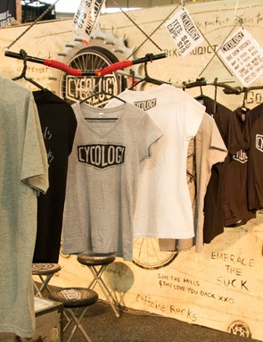 New T-shirts and technical riding jerseys were on display from Sydney based Cycology