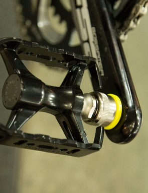 The pedals on the Tern Eclipse X20 were pretty neat - they didn't fold but rather pulled straight off the crank