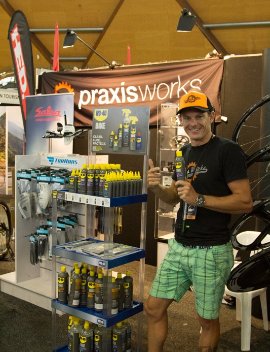 Dan from Dawson Sports Group was showing off the new WD-40 BIKE range - expect reviews of the entire product line soon