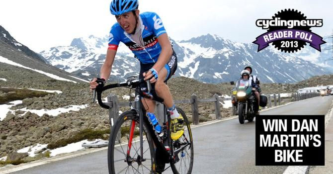 Enter the 2013 Cyclingnews reader poll for a chance to win Dan Martin's Cervélo R5 race bike