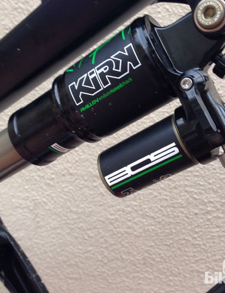 The BOS Kirk rear shock features high and low speed compression and rebound adjustment
