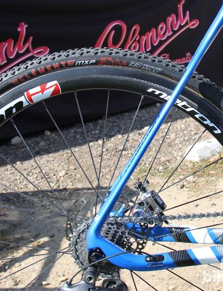 The Vison Metron 40 Disc wheels replace the custom wheelset he ran last season