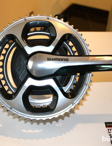 New for SRM is a Dura-Ace 9000 crank featuring a right arm Shimano produces just for SRM